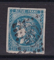 D 177 / LOT BORDEAUX N° 46A OBL COTE 200€ - 1870 Bordeaux Printing