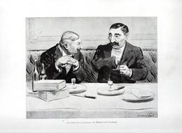 Gravure Illustration Du 19 ° Siècle -  ...Les Fables De La Fontaine: Le Renard Et Le Corbeau. ... - Other