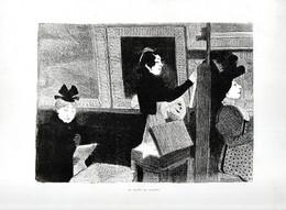 Gravure Illustration Du 19 ° Siècle -  ...Au Musée Du Louvre. ... - Other