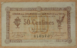 Albi, Castres, Mazamet ( 81 - TARN ) 50 Centimes Chambre De Commerce 30-11-1914 - Chambre De Commerce