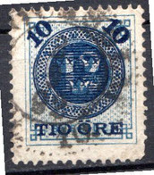 SUEDE - 1889 - N° 39 - 10 O S. 12 O. Bleu - (Dentelé 13) - Gebraucht