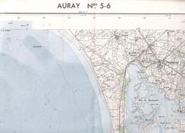 Auray Belle Ile (Morbihan) Cartes  5-6 1/40 000 IGN   1966 - Carte Geographique