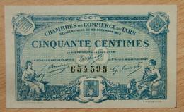 Albi, Castres, Mazamet ( 81 - TARN ) 50 Centimes Chambre De Commerce 22-12-1917 - Chambre De Commerce