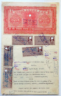 India KGVI Stamp Paper 250Rs Used With Many Court Fee Stamps (**) Inde Indien - Other