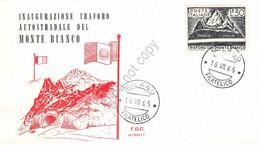 FDC Rossetti - Italia 1965 - Traforo Del Monte Bianco - Non Viaggiata - Sin Clasificación