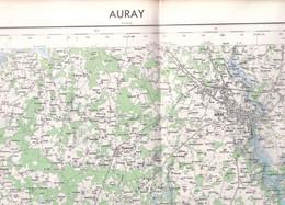Auray  (Morbihan) 1/50 000 IGN   1969 - Carte Geographique