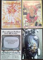 """4 CPM Draguignan Var 83, Salon De La Carte Postale Et Toutes Collections 1998,2003,2005 Et 2008 """"Collection Passsion"""" - Draguignan"""