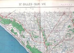St Gilles Sur Vie (Vendée) 1/50 000 IGN   1959 - Carte Geographique