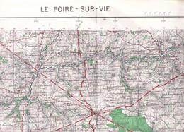 Le Poiré Sur Vie (Vendée) 1/50 000 IGN   1963 - Carte Geographique
