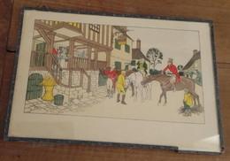 Estampe Originale D'HARRY ELIOTT Retour De La Chasse à Courre 1882-1959 - Estampes & Gravures