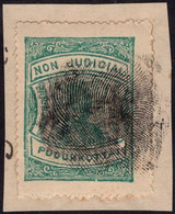 India Pudukottai State Revenue 1a Green Finger Thump Impression (**) Inde Indien - Other