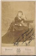 CABINET : Portrait De Femme Par Gaston Mathieu à Paris (12 Septembre 1879) (BP) - Old (before 1900)
