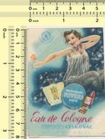 CARTE PARFUMEE: EAU DE COLOYNE - PERFUME VINTAGE CARD ADVERTISI, NEVENA LESKOVAC YUGOSLAVIA - Vintage (until 1960)