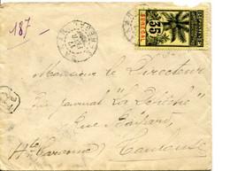 SENEGAL - TP Palmier Sur Lettre Recommandée Du 17/2/1914 Pour Toulouse France - Alberi