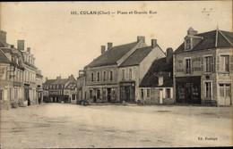 CPA Culan Cher, Place Et Grande Rue - Altri Comuni