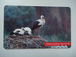 SLOVAKIA USED CARDS    BIRD   Stork - Pappagalli