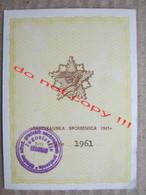 "Ticket For Public Transport / SFRJ Yugoslavia - "" PARTIZANSKA SPOMENICA 1941 "" - Europe"