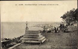 CPA Algier Alger Algerien, Notre Dame D'Afrique, Le Monument Aux Morts De La Mer - Alger