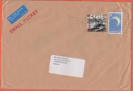 Alderney - 20?? - Red Cross + Total Eclipse - Small Packet - Air Mail - Medium Envelope - Viaggiata Da Guernsey Per Brux - Alderney