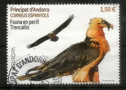 ANDORRA.EUROPA CEPT 2021. Fauna En Perill / Trencalos. Balbuzard.Quebrantahuesos. Oblitéré 1 ère Qualité. AND ESP - 2020