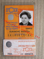 Serbia / Belgrade, GSP Beograd - Identity Card For Transportation Of Persons Older Than 70 Years ( 2003 ) - Europe