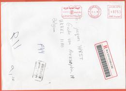 EGITTO - EGYPTE - Egypt - 2006 - 975 EMA, Red Cancel - Registered - Medium Envelope - Viaggiata Da Cairo Per Bruxelles, - Covers & Documents
