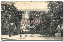 CPA Blois Loir Et Cher Vue Prise Du Haut De L'Escalier Monumental - Blois