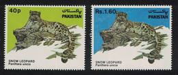 Snow Leopard Wildlife Protection Animals Fauna 2v Pakistan 1984 MNH SG#621-622 CV£6.50 - Roofkatten