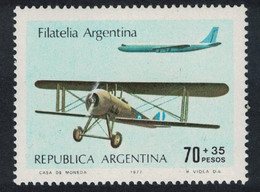 Aircrafts SPAD XIII And Boeing 707 Argentina 1977 MNH SG#1563 - Aerei