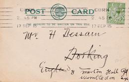 Carte Postale De CORK => WIMBLEDON - Vorphilatelie