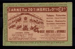Algerie - Carnet De 20 Timbres YV 9 N** , Rouille Au Verso , Complet Pasteur , Rare - Cartas