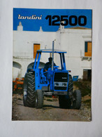 CL24 4 Pg Tracteur Agricole LANDINI 12500 Italia Almacoa Tractor Trattori Traktor Publicité Brochure Publicitaire - Agriculture