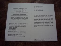 Doodsprentje/Bidprentje  Louis STAAL (Wedr J.M.GERRITSEN) Hoboken 1903-1991     Gepensioneerd Variété Artiest - Religione & Esoterismo