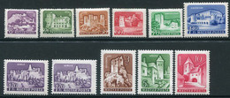 HUNGARY 1960 Castles Definitive With Both 1.70 Ft. MNH / **.  Michel 1650-59 + 1656 II - Nuevos