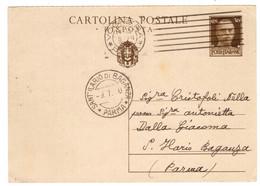 WQ427   Regno 1940  Annullo SANT'ILARIO DI BAGANZA (Parma) Su Cartolina Postale Risposta 30c Da Voghera - Marcofilía