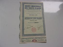 Industrielle Des VOUTES D'ALGER (2500 Francs) ALGERIE - Non Classificati