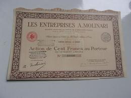 LES ENTREPRISES A.MOLINARI  (capital 3,8 Millions) ORAN , ALGERIE - Non Classificati