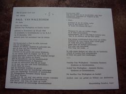 Doodsprentje/Bidprentje   PAUL VAN WALLEGHEM  Zonnebeke 1908-1993 Oostduinkerke   Dr. Juris     AVV / VVK - Religione & Esoterismo