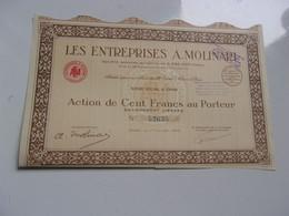 LES ENTREPRISES A.MOLINARI  (capital 5,59 Millions) ORAN , ALGERIE (1940) - Non Classificati