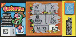 République Dominicaine Loterie Instantanée  Cotorra - Lottery Tickets
