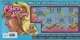 République Dominicaine Loterie Instantanée  Chica De Oro - Lottery Tickets