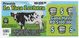 République Dominicaine Loterie Instantanée  La Vaca Lechera - Lottery Tickets