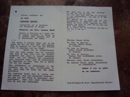 Doodsprentje/Bidprentje GERARD DICKX (Echtg S.BEUN) Sint Kruis 1911-1975 Ternat Hoofdgriffier Rechtb.Koophandel Brugge - Religione & Esoterismo