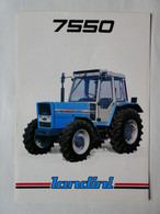 CL32 2 Pg Tracteur Agricole LANDINI 7550  Italia Tractor Trattori Traktor Publicité Brochure Publicitaire - Agriculture