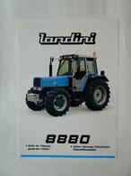 CL11 2 Pg Tracteur Agricole LANDINI 8880 Italia Tractor Trattori Traktor Publicité Brochure Publicitaire - Agriculture