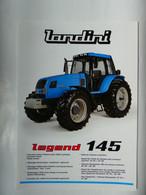 CL10 2 Pg Tracteur Agricole LANDINI Legend 145 Italia Tractor Trattori Traktor Publicité Brochure Publicitaire - Agriculture
