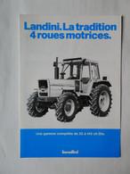CL30 2 Pg Tracteur Agricole LANDINI Gamme Complète  Italia Tractor Trattori Traktor Publicité Brochure Publicitaire - Agriculture