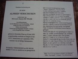 Doodsprentje/Bidprentje ALFRED VERSCHUREN (Wedr J DE WILDE) Moerbeke-Waas 1893-1993 Edegem Ere-Rijksambtenaar.... - Religione & Esoterismo