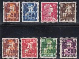 Algeria, Scott #257-258, 265, 267-271, Used, Patio Of Bardo Museum, Marianne, Issued 1954-55 - Gebraucht