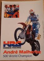 MOTORCROSS ANDRE MALHERBE, Kaart 12.50 X 17.5cm - Unclassified
